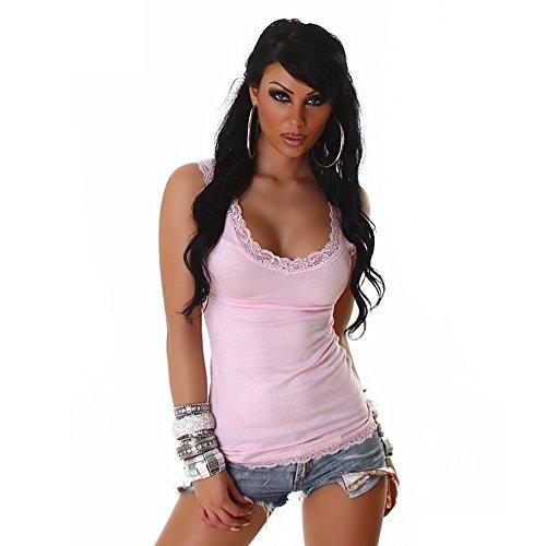 Summer Dessus femmes Sexy en dentelle pour femme avec haut sans manches Taille unique 6, 8, 10, 12–ONE Taille 34, 36, 38, 40 Rose - Rose clair