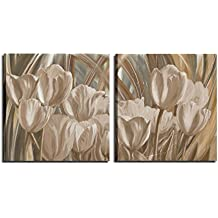 cuadros modernos con flores pintados a mano aceite sobre lienzo marrn para saln cocina sof oficina