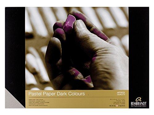 Block 30Blatt Pastell-Rolle für dunkle Farben 21x 29,7cm