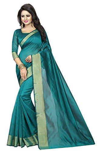 Sarees(Kastabhanjan Green Designer Casual wear Silk women's saree for daily wear)