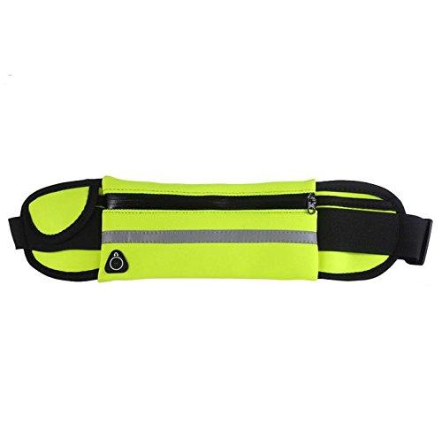Hippolo Tasche da Viaggio Esterne da Viaggio 4 a 6 Pollici Telefono Cellulare Borsa Impermeabile Personale Multifunzionale Uomini e Donne Cintura Maratona (Blu navy) Verde
