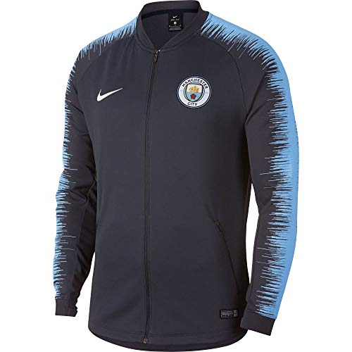 Nike Manchester City FC Anthem Chaqueta de Entrenamiento, Hombre, Dark Obsidian/Field Blue/White, Small