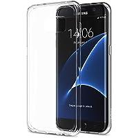 Mb Accesorios Funda Carcasa Gel Transparente para Samsung Galaxy S7 Edge Curvo, Ultra Fina 0,33mm, Silicona TPU de Alta Resistencia y Flexibilidad