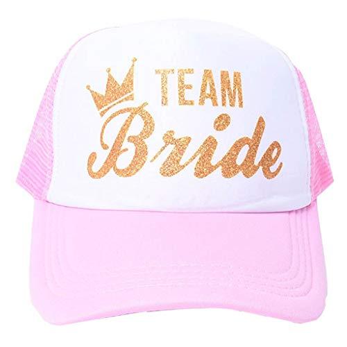 Brucelin TEAM BRIDE Bedruckte Baseballkappe, Verstellbare Baumwollnetzhaube -