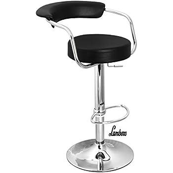 Black U0026 Chrome Swivel Bar Kitchen Breakfast Stools Chair 060
