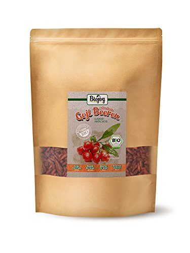Biojoy Bacche di Goji BIO essiccate | senza zolfo e zucchero | super cibo senza conservanti e con tante sostanze utili | mezzo di cura tradizionale M.C.T. | Lycium barbarum (1 kg)