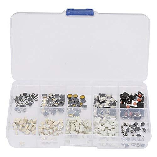 250 Stück 10 Typen Micro Drucktasten Set Drucktasten Touch-Schalter Kit mit Box