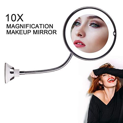 STLOVe LED Espejo Maquillaje Aumento 10X Ventosa &