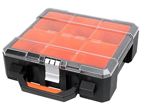 XXL Organizer / Werkzeugkoffer mit sechs herausnehmbaren Einsätzen, Komfort-Griff und Aluminium...