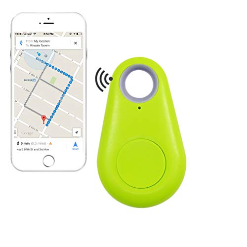 Schlüsselfinder, Mini GPS Tracker Bluetooth 4.0 Auto Anti Lost Device GPS Tracker Pet Car überwachung Fahrrad Mini Locator Schlüsselanhänger Schlüsselsucher für Brieftasche Auto Kind Haustiere