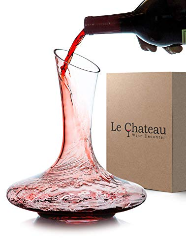 Le Chateau Wine Decanter - 100% Hand Blown Lead-free Crystal Glass, Red Wine Carafe, Wine Gifts, Wine Accessories by Le Chateau