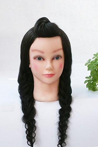 topbeauty 90% Vrais Cheveux Humains 50,8 cm Formation Mannequin Head Formation Coiffure Head w/Collier de serrage pour Collège et professionnel à entraînement Perm et teinture