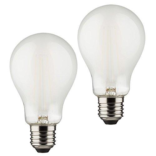 Müller-Licht 2er-SET Retro-LED Birnenform ersetzt 60 W, Glas, E27, 6 W, Silber, 6 x 6 x 10.6 cm, 2 Einheiten -