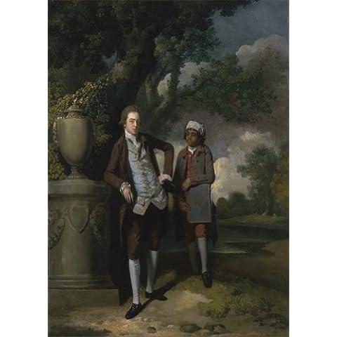 John Hamilton Mortimer un giovane con la sua indiano Servant