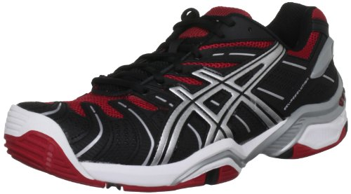 Asics Gel Resolution 4, Scarpe da Tennis Uomo Nero (Black/Red/Lightning)