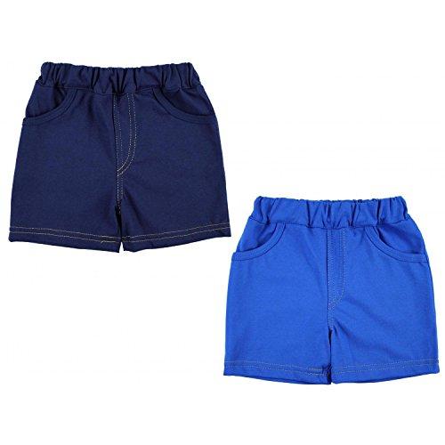 TupTam Jungen Kurze Hose Bermuda 2er Pack, Farbe: Dunkelblau / Blau, Größe: 104