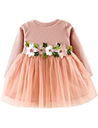 2917dade120b1 Toddler Baby Girls Princess Mini Dresses Flower Tutu Long Sleeve Party Dress  Clothing Gown Birthday Swing