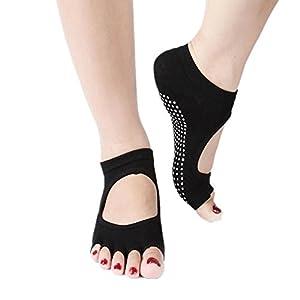 Maybesky Yoga Socken Reine Baumwolle Finger unsichtbare Schweiß atmungsaktive Anti-Rutsch-Socken Pilates, Anti-Rutsch-Slip-Socken