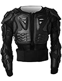 Motocross Dirt Bike Full Body Armour Jacket Chest Shoulder Elbow Plastic Coverage Quad Motorcycle Protect Suit - Black S