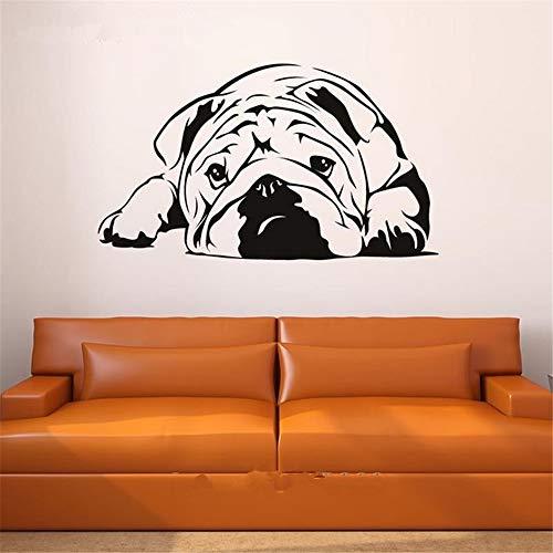 wandaufkleber selbst gestalten Spätester englischer Bulldoggen-freundlicher Aufkleber für Inneneinrichtung