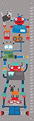 Oopsy Daisy Fine Art for Kids Robot Stack Growth Chart by Vicky Barone 12 x 42