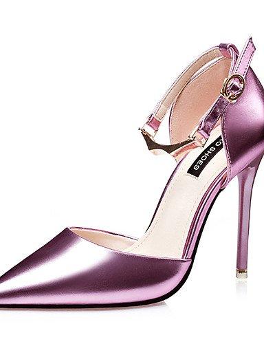 WSS 2016 Chaussures Femme-Décontracté / Soirée & Evénement-Noir / Rose / Argent / Taupe-Talon Aiguille-Talons-Talons-Similicuir pink-us8 / eu39 / uk6 / cn39