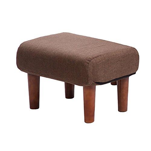 ZXQZ Repose-pieds créatif en bois massif / canapé de salon / tabouret de porte / petit tabouret simple (50 * 33 cm) repose-pieds de stockage ( Couleur : Marron )