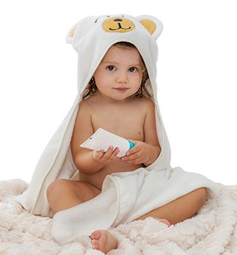 Toalla Bebé con Capucha BUGIE, Capa de baño para Niños 100% Bambú, Albornoz bebé