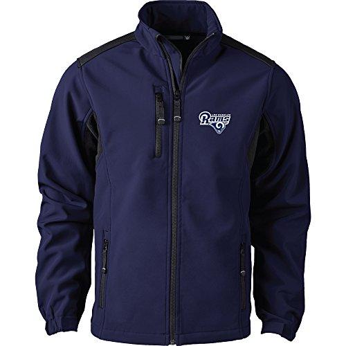 Dunbrooke Apparel NFL Herren Softshelljacke Los Angeles Rams Jacket Small, Navy 004 Ram