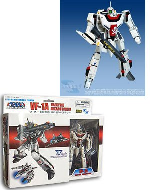 Robotech Macross Toynami 5 Inch 1/100 Scale Fully Transformable Hikaru Ichijo's VF-1A Veritech Fighter by Toynami