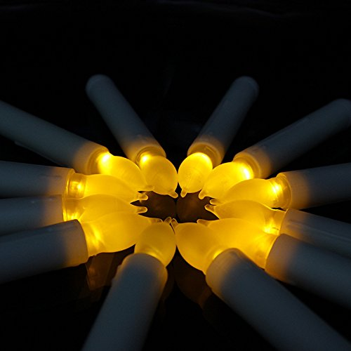 12pcs LED Velas Eléctrica de Lights Battery Operated Votive Velas led de LED Taper Candles for Christmas Wedding Birthday Party Halloween Room Decorations,6.5 x 0.9 Inch,Batteries Not Included (Warm)