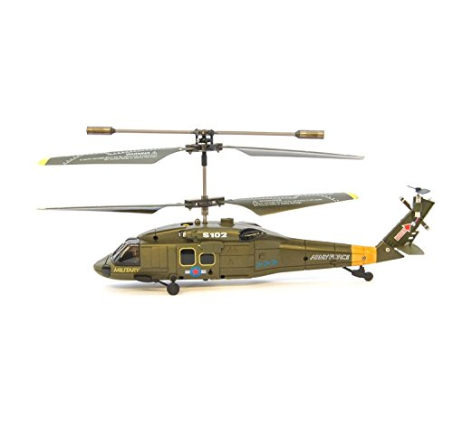 Elicottero efaso s102g 3 ir canale in army camo, verde militare