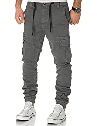 Jogg Jeans Cargo Herren Sweatpants Hose Joggjeans Denim Slim Fit Cargohose Chino Sublevel