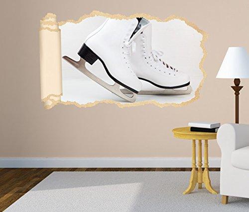 3D Wandtattoo Eislauf Eis Schuhe Tanz Sport Tapete Wand Aufkleber Wanddurchbruch Deko Wandbild Wandsticker 11N1141, Wandbild Größe F:ca. 140cmx82cm