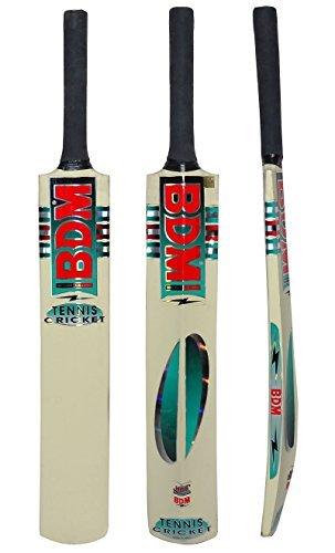 BDM Kaschmir Willow Wood Tennis Cricket-Schläger mit Tragetasche Cane-Erwachsen-Größen Griff - Gewicht wählen