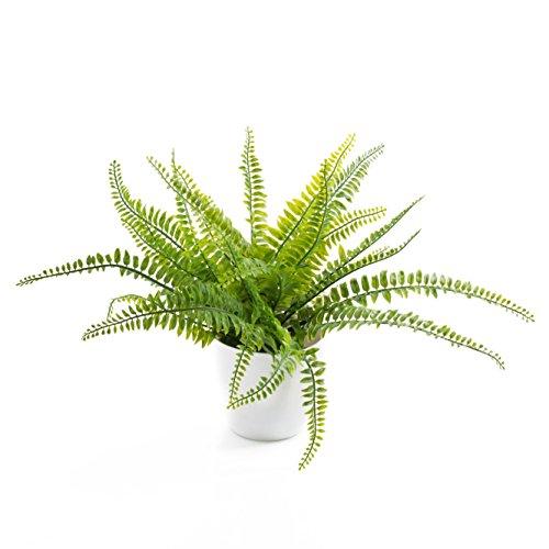 Felce di boston artificiale in vaso decorativo, 26 foglie, 30 cm - felce ornamentale / pianta artificiale - artplants