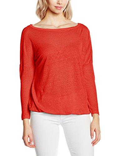 Blaumax Santiago Linen - T-shirt - Femme Rot (Red 4230)