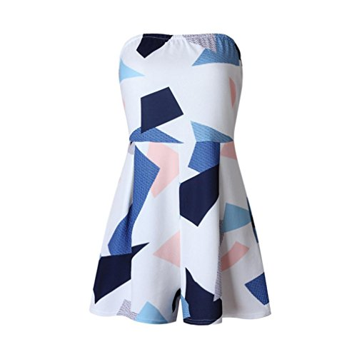 Price comparison product image Women Jumpsuit,  Womens Summer Holiday Mini Playsuit Ladies Jumpsuit Beach Shorts Dress (L,  Blue)