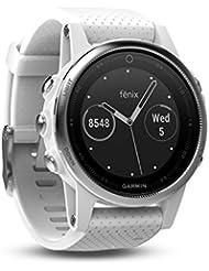 Garmin Fēnix 5S Smartwatch Gps-Multisportuhr, Silber, Armband Weiß, 42 mm