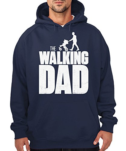 -the-walking-dad-boys-kapuzenpullover-navy-weisser-druck-grosse-xl