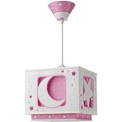 Dalber 63235TL - Lámpara para habitación infantil, diseño de luna en color rosa