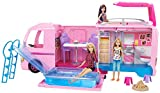 Barbie FBR34 - Super Abenteuer Camper, Puppen Camping Wohnwagen mit Zubehör, Mädchen Spielzeug ab 3 Jahren