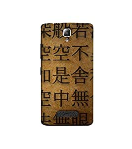 Fuson The Chinese Language Theme Designer Back Case Cover forLenovo A2010 -P-1434
