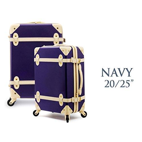"EDDAS - Portatrajes de viaje azul marino 45 cm x 25 cm x 67cm (17.7"" x 9.8"" x 26.3"")"