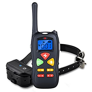 Bluelover Dog Training Collar Rechargeable And Waterproof 1000 Foot Range Shock Electric Collar