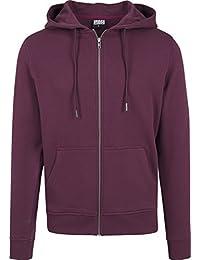 Urban Classics Herren Kapuzenjacke Basic Zip Hoodie - einfarbiges Sweatshirt mit Kapuze, Kapuzenpullover mit Reißverschluss
