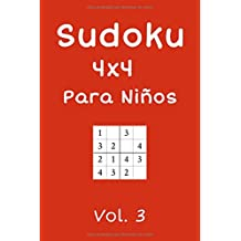 Sudoku 4x4 Para Niños: 240 Sudokus, Vol. 3