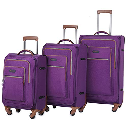 Vergrößerbares Gepäck 20in 24in 28in Softside Oxford Stoffgepäck 3-teilige geschachtelte Sets Erweiterbare Stützen Carry-on-Koffer Softshell Leichte 360   ° Silent Spinner Multidirektionale Räder für (Samsonite Luggage Lock Set)