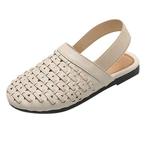Kinder gewebte Sandalen Mädchen japanische neue Retro-Sätze von Füßen Freizeitschuhe Baotou Sandalen und Hausschuhe ()