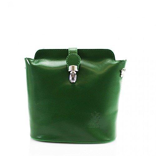 LeahWard® VERA PELLE ITALY Echt Leder Umhängetasche Schultertaschen Handtasche Zum Damen Grün